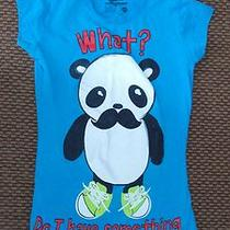 Jr. Bitter Sweet Mustache Panda Blue T-Shirt Sz Xs Photo