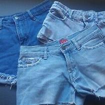 jR's. Lot of 3 Denim/jean Shorts Cut Off Aeropostale/tilt- Blue- All 28