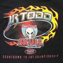Jr Todd Skull Shine Men's T Shirt Size 2xl Black Fire Graphic Free Shipping Photo
