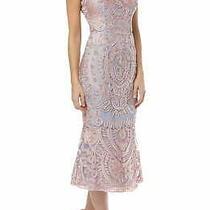 Js Collections Women's Dress Blush Pink Size 12 a-Line Soutache Gown 300 241 Photo