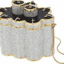 Judith Leiber Chinese Fireworks Gold Black Minaudiere Evening Bag Clutch Vintage Photo
