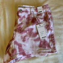 Judy Blue Shorts Blush Tie Dye Mid Rise Medium Womens Photo