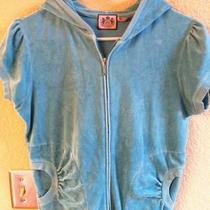 Juicy Couture Aqua Velour Short Sleeve Hoody L Large Photo