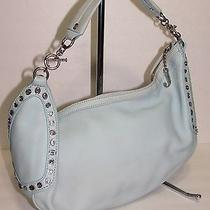 Juicy Couture Auth Light Blue Leather Hobo Shoulder Bag Photo