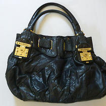 Juicy Couture Authentic Hobo Black Leather Handbag Medium  Photo