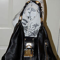 Juicy Couture Black Keri -Key Lock Slouch Soft Leather Bag Photo