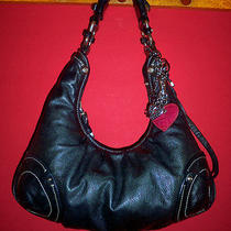Juicy Couture Black Leather Hobo Bag  Photo