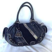 Juicy Couture Black Mint Condition Canvas and Leather Hobo Pocketbook Photo