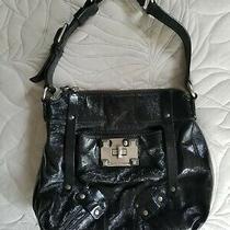Juicy Couture Black Patent Leather Handbag Shoulder Bag Euc Photo