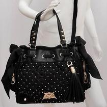 Juicy Couture Black Studded Quilted Tote Shoulder Bag - Perfect Gift Gift Photo
