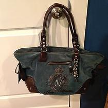 Juicy Couture Blue & Brown Bag  Photo