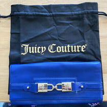 Juicy Couture Blue Leather Clutch Handbag Purse With Dust Bag Photo