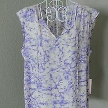 Juicy Couture Blush Lavender Pink Sleeveless Tie Dye Top Size M Nwt Msrp 38 Photo