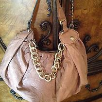 Juicy Couture Blush Taupe Leather Gold Chain Hobo Photo