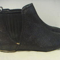 Juicy Couture Brighton Black Ankle Boots Sz 10 Photo