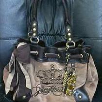 Juicy Couture Brown Jewel Crown Big Bag Purse Valentine's Day  Photo