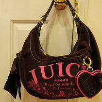 Juicy Couture Brown & Pink Hobo Purse Handbag Regal Couture Party Purse - New Photo