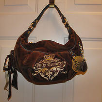 Juicy Couture Brown Velour Hobo Bag/purse Royal Juicy Metal  Photo