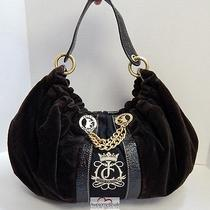 Juicy Couture Brown Velour Patent Slouch Hobo Bag Bag Photo