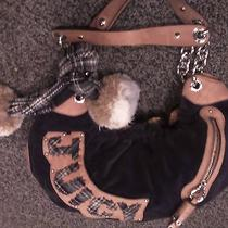 Juicy Couture Brown With Pom Poms.....beautiful and Roomy..great Price Photo