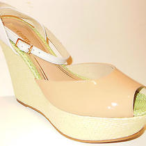 Juicy Couture Dafne Wedge Ankle Strap Sandal Womens Blush Patent Leather 8.5 M Photo