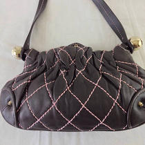 Juicy Couture Dark Brown Quilted Lamb Leather Bag Photo