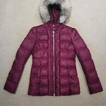 Juicy Couture Down & Feather Padded Puffer Winter Jacket Coat Size Xs Uk 6 Eu 34 Photo