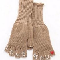 Juicy Couture Embroidered I Love You Fingerless Womens Gloves Photo