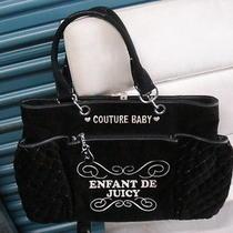 Juicy Couture Enfant De Juicy Diaper Bag - Large Black Bag Photo
