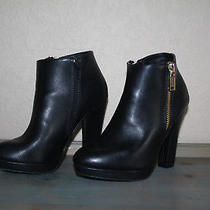 Juicy Couture Georgina Womens Black Faux Leather Ankle Booties  - Size 5.5m Photo