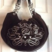 Juicy Couture Girls Club Brown Leather & Velour Xl Fluffy Hobo Bag Purse Euc Photo