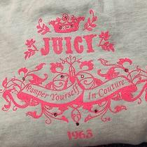 Juicy Couture Girls Hoodie Sz 8 Pamper Yourself Spa Rhinestones New Tiffany Blue Photo