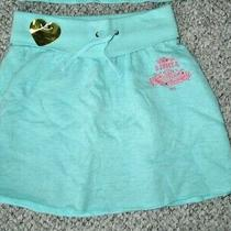 Juicy Couture Girls Skirt Sz 8 Pamper Yourself Tiffany Blue Spa Rhinestones New Photo