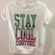 Juicy Couture Girls Top Short Sleeve Stay Cool Couture Bling Size L 14 Photo
