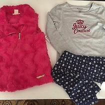 Juicy Couture Girls Vest Tee Leggings 3pc  Set Size 6 89.50 Photo