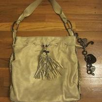 Juicy Couture Gold Lamb Leather Wood Charms Shoulder Handbag Purse Photo