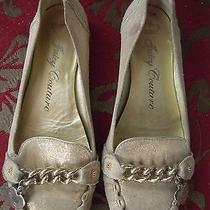 Juicy Couture Gold Leather Moccasin Flats  Size 8m Photo