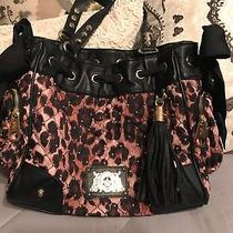Juicy Couture Gold Studded Diamond Quilted Hobo Bag Photo