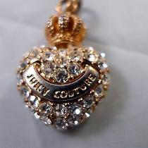 Juicy Couture Gold Tone Rhinestone Charm Pendant Bling Ships Free Photo
