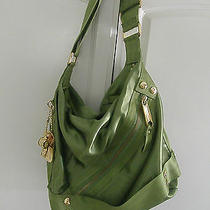 Juicy Couture Green Janet Sailing Nylon Shoulder Hobo Bag Purse Photo