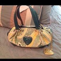 Juicy Couture Handbag Pretty Green/yellow W/attached Mirror Photo