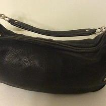 Juicy Couture Handbag Purse Black Leather W/charms Photo