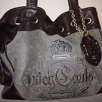 Juicy Couture Handbag Purse Brown Gray Authentic Photo
