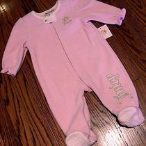 Juicy Couture Infants/baby Girls Brand New Pink Dress Bodysuit Size 0-3m Nwt Photo