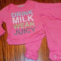 Juicy Couture Infants/baby/kids Girls Brand New Pink 2pc Set/suit Size 0-3m Nwt Photo