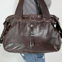 Juicy Couture Large Brown Leather Shoulder Hobo Tote Satchel Carry-All Purse Bag Photo