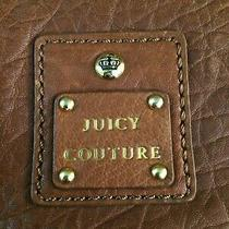 Juicy Couture Leather Shoulder Hobo Purse / Bag With Gold Color Chains Photo