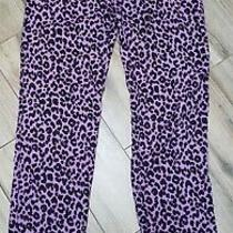 Juicy Couture Leopard Print Purple Pajama Pants Sz Xs Photo