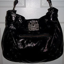 Juicy Couture Lock-It Mean It Hobo Black Leather Handbag 378 Photo