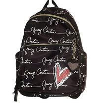 Juicy Couture Love Letter Black White Backpack Red Heart Photo